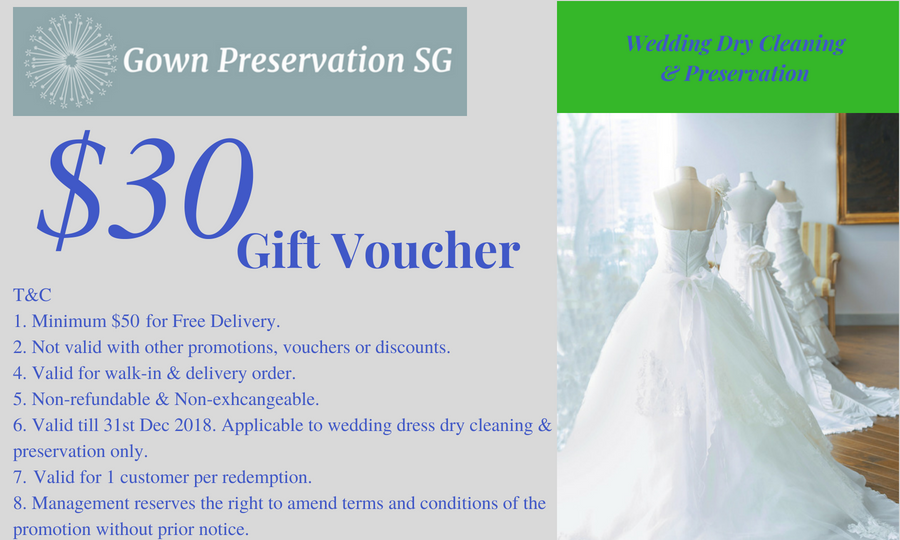 Wedding Gown Preservation Service Singapore